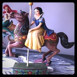 Jim Shore Snow White Carousel Figurine